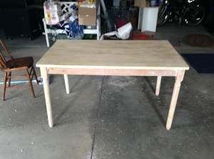 Table completely sanded